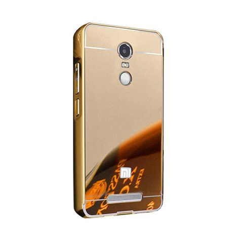 Casing Hp Xiaomi Redmi Note 4 Jagermeister Custom Hardcase jual bumper mirror sliding casing for xiaomi redmi note 4 gold harga kualitas