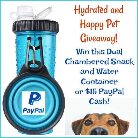 Pet Giveaways - hydrated and happy pet giveaway win a duo snack water bottle open ww ends 8 4