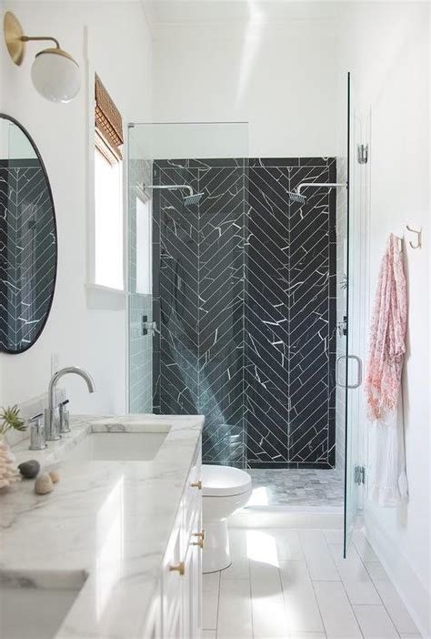 black marble bathroom tiles cedar moss alto sconce design ideas