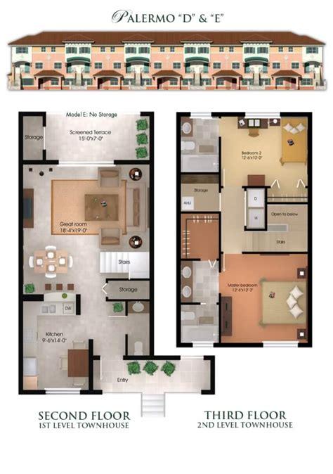 2 Bedroom Garage Apartment Floor Plans Il Villagio Condominiums And Townhomes In Jacksonville