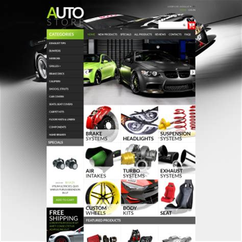 Auto Parts Zen Cart Templates Auto Spare Parts Website Template Free