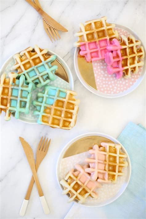waffles color color dipped waffle recipe bhg s best diy ideas waffle