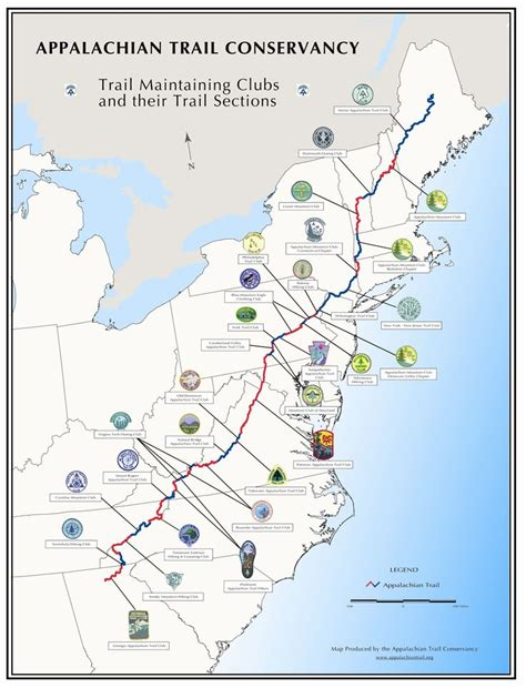How To Hike The Appalachian Trail In Sections by 25 Best Map Of Appalachian Trail Ideas On
