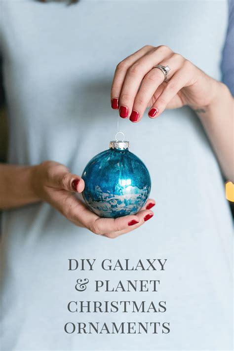 diy galaxy and planet christmas ornaments shrimp salad