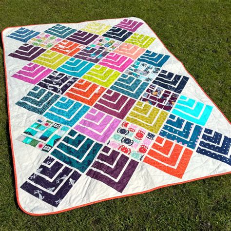 Jelly Roll Patchwork Quilt Patterns - jelly on point modern quilt pattern quilts patchwork
