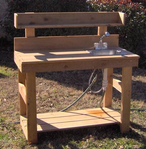 potting bench sink brand new 6 foot deluxe cedar potting bench with sink free
