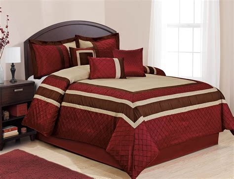 Homechoice Comforters homechoice 7 scarlet burgundy gold bed in a bag