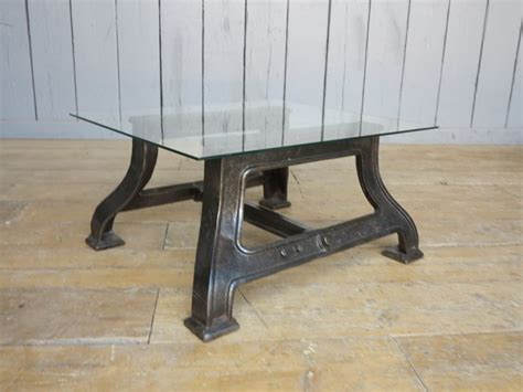 Cast Iron And Glass Coffee Table Industrial Glass Cast Iron Coffee Table