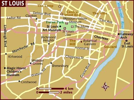 st louis on a map of the united states maps us map st louis