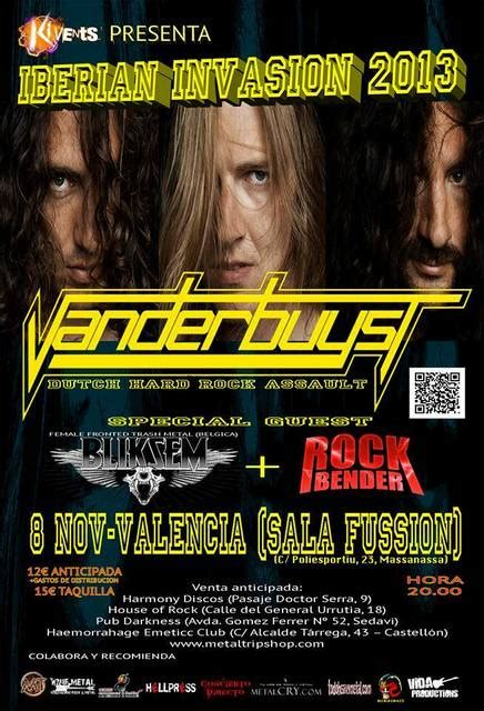 sala fussion massanassa vanderbuyst bliksem rockbender el 8 de noviembre en la