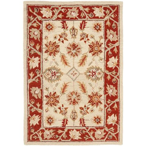2 x 3 area rugs safavieh chelsea ivory rust 2 ft x 3 ft area rug hk719a 2 the home depot