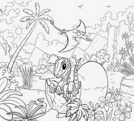 Dinosaur Landscape Coloring Pages Sketch Page sketch template