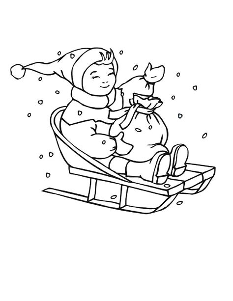 coloring pages of winter and hope free coloring pages
