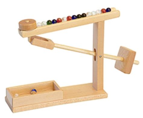 Toddler Play Vanity Marble Machine Handmade Wood Mechanical Office Toy Game