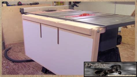 table saw outfeed table make a table saw out feed table