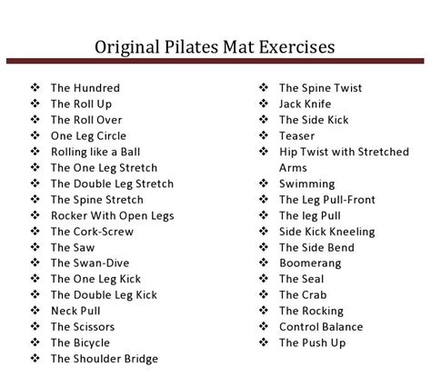 34 original order of mat exercises goal is to teach