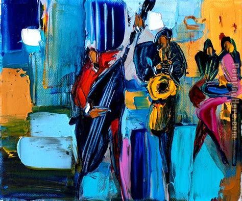 Jazz And Swing Green Swing Jazz Painting Anysize 50