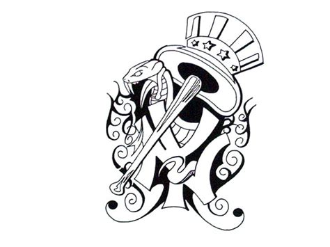 tribal yankees tattoo ny yankees by tinnoka on deviantart