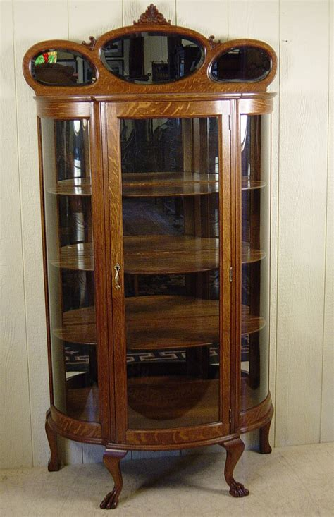 oak curio china cabinet