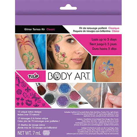 tattoo kit walmart tulip body art glitter tattoo kit walmart com