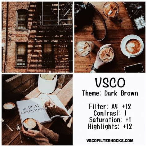 tumblr themes vsco dark brown instagram feed using vsco filter a4 editing