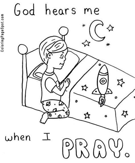 Free Coloring Pages Of Praying Boy Praying Coloring Pages