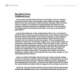 Exle Of Descriptive Essays by Descriptive Essay Exle About A Picture Dailynewsreports395 Web Fc2