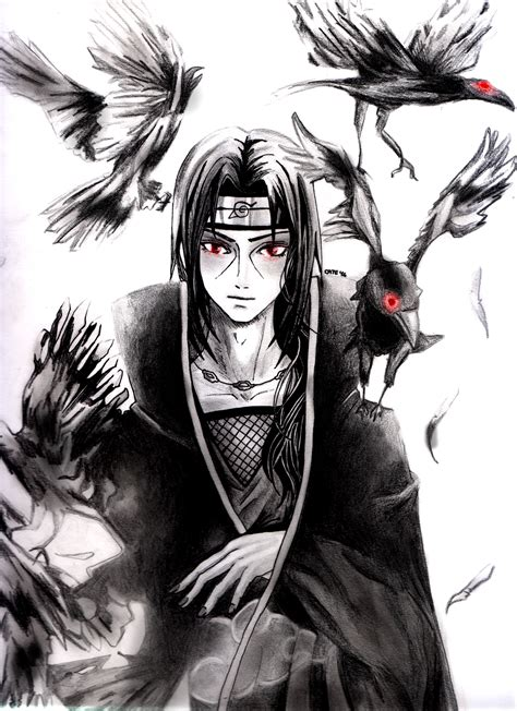 itachi uchiha tattoo itachi and crows fanart by 13lawliet13 on deviantart