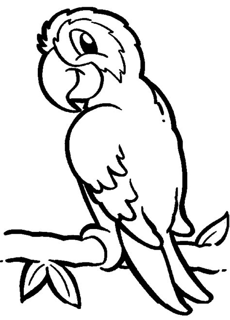 smiley coloring pages of parrot for kids coloring point