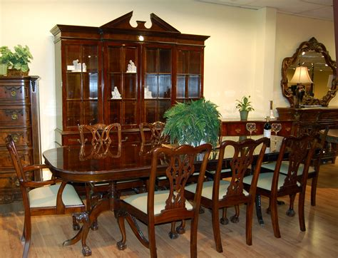 mahogany dining room set image regency dining table and 16 chairs flame mahogany