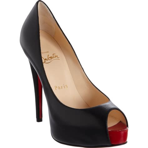 Peep Toe Shoes by Christian Louboutin Black Peep Toe Christian Louboutin