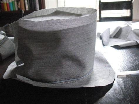 How To Make A Top Hat Out Of Paper - cover a top hat 183 how to make a top hat 183 sewing on cut