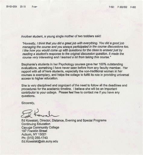 Letter Of Evaluation Amcas Supervisor Evaluation June 2004