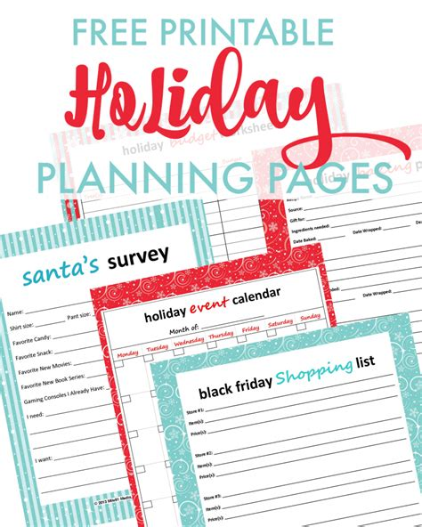 free printable holiday planner pages 12 creative ways to save for christmas now
