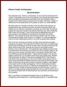 Autobiography Essay Exle For College by 15 Sle Autobiography For College Application