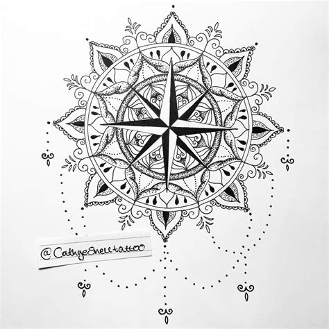 tattoo compass mandala compass tattoo mandala design that s available if anyone