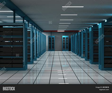 Technical Room by 3d Computer Server In A Hi Tech Room Stock Photo Stock
