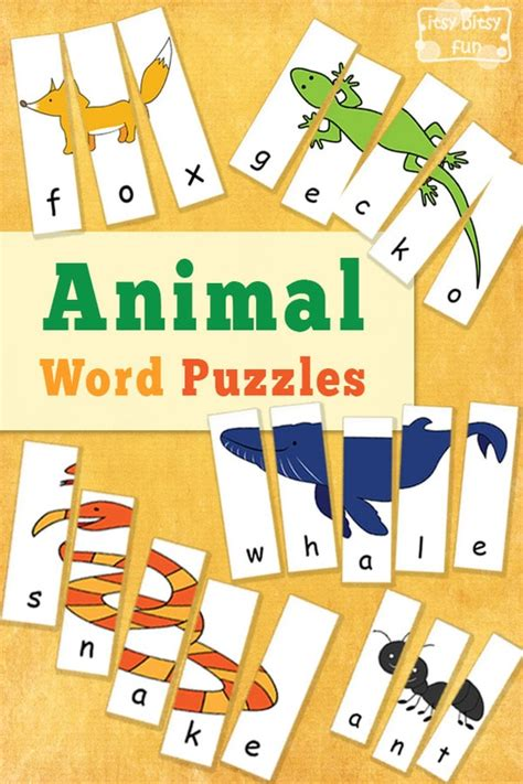 printable animal puzzles animal word puzzles itsy bitsy fun