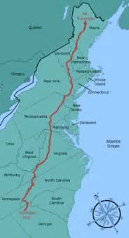 appalachian trail map pic appalachian trail