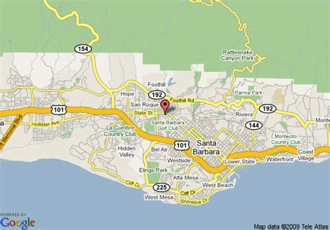 santa barbara on map of california quality inn santa barbara map images frompo