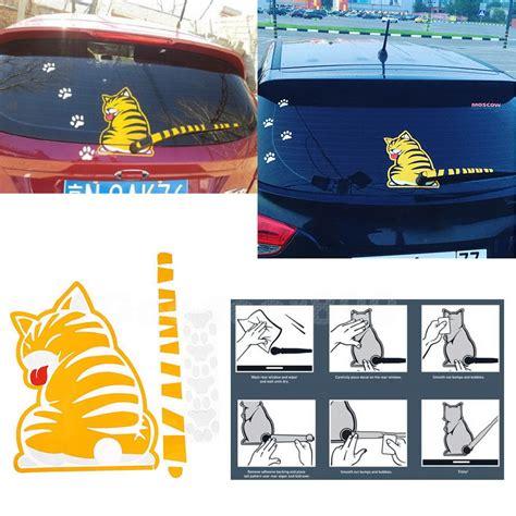 Stiker Sticker Wiper Belakang Kucing cat paw waterproof rear window wiper car suv decal sticker