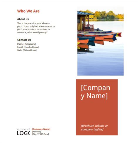 microsoft templates brochure sle microsoft brochure 6 documents in word