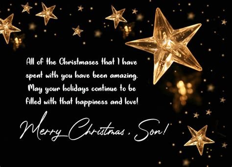 christmas wishes  son merry christmas messages