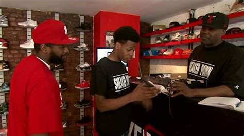 sneaker pawn shop sneaker pawn shop opens in harlem 171 cbs new york