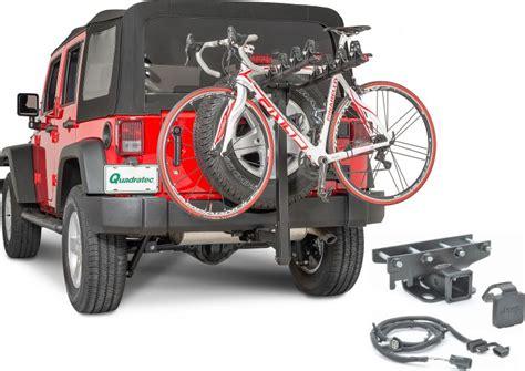 Jeep Jk Bike Rack by Quadratec 4 Bike Folding Bike Rack 2 Quot Receiver Hitch Kit For 07 16 Jeep 174 Wrangler Wrangler