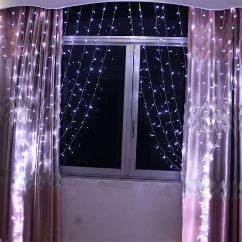 led curtain lights canada connectable 3x3m led white light curtain string fairy