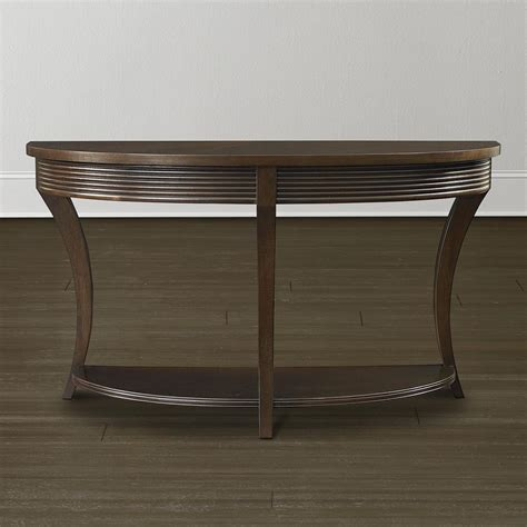espresso brown contemporary console and sofa table