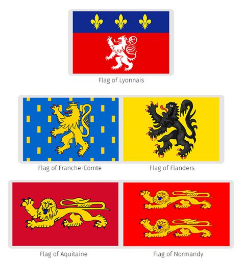 flags of the world lion flags of france the dialogue