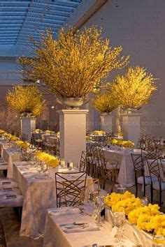 Asya Baby Yellow babys breath poof centerpieces wedding