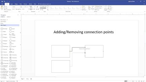 visio add on add or remove connection points in visio 2016